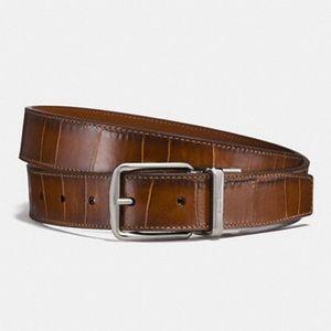 Coach Harness Belt Crocodile Embossed - size 42